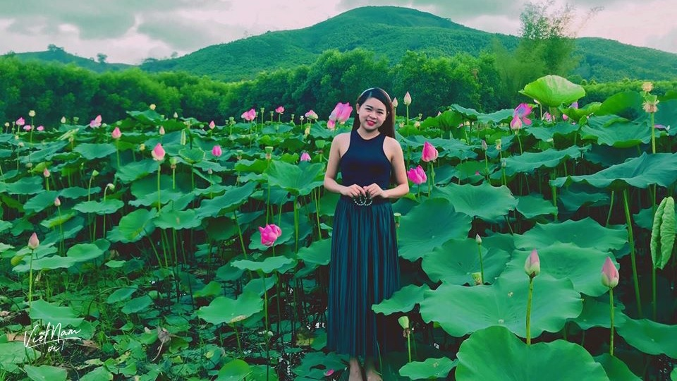 """Lang thang Gia Lai, """"sống ảo triệu like"""" với cánh đồng sen hồng"""